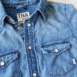 Aritzia l TNA Western Snap Denim Shirt